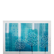 Snowy City Holiday Business Hallmark Card