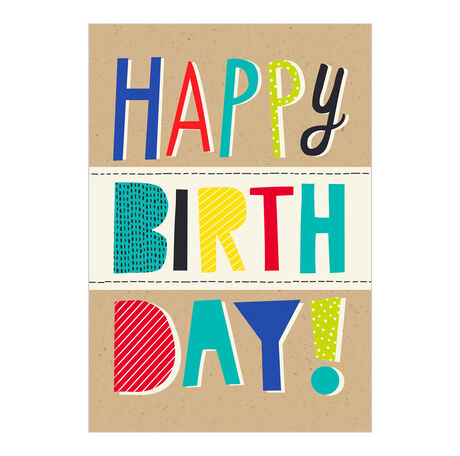 Happy Birthday Letter Collage Business Hallmark Card