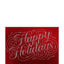 Happy Holidays Flourish on Red Business Hallmark Card