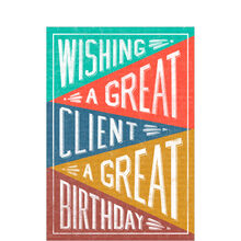 Great Client, Great Birthday Business Hallmark Card