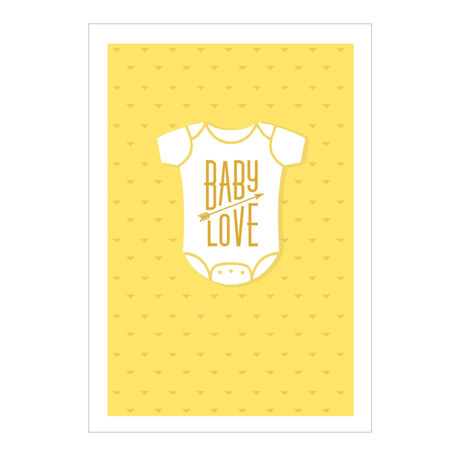 Baby Love Onesie on Yellow Business Hallmark Card