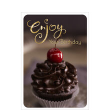 Enjoy Your Birthday Cupcake Business Hallmark Card
