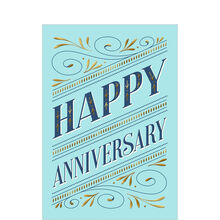 Elegant Work Anniversary Business Hallmark Card