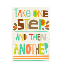 One Step at a Time Health Business Hallmark Card