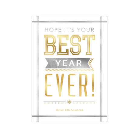 Best Ever New Year Design Your Own Business Hallmark Card