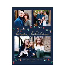 Christmas Lights Happy Holidays Multi Photo Card