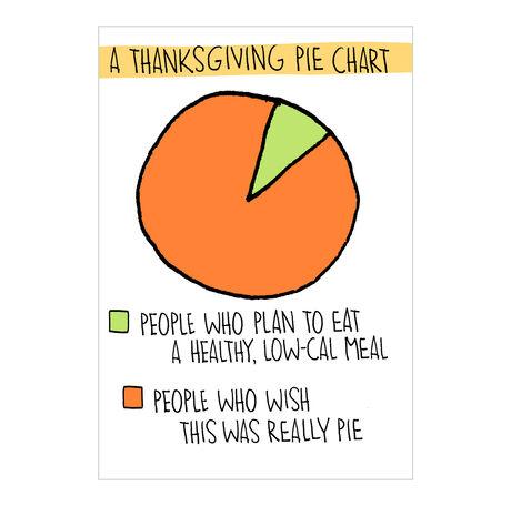 Thanksgiving Pie Chart Business Hallmark Card