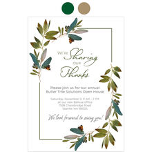 Sharing Thanksgiving Design Your Own Business Hallmark Invitation