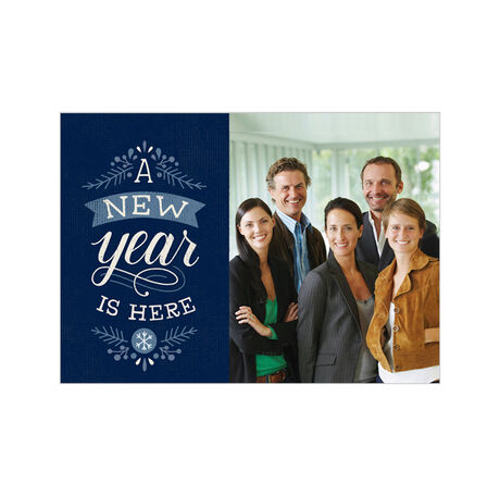 New Year Is Here Holiday Business Hallmark Photo Card