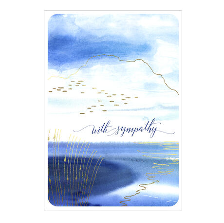 Sympathy Card (Watercolor Shore) for Business