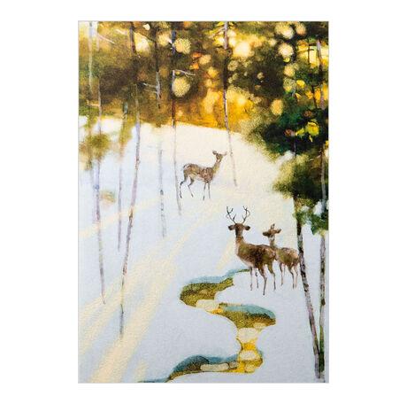 Deer in Snow Holiday Business Hallmark Card