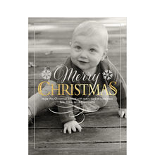Shimmering Christmas Full Photo Hallmark Card