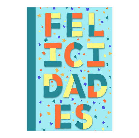 Colorful Congrats Spanish Business Hallmark Card