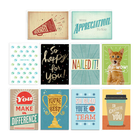 Assorted Star Qualities Employee Appreciation Cards 150 Pack
