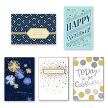 Assorted Work Anniversary, Retirement & Congrats Cards, 25 Pack