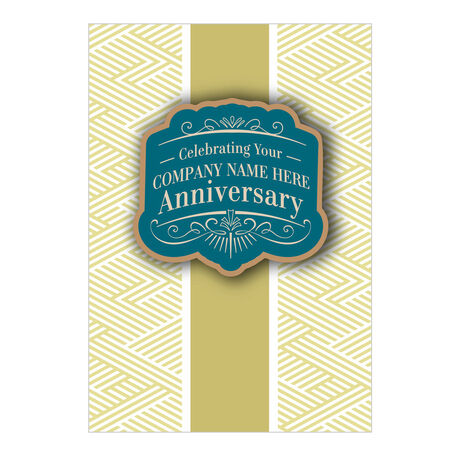 Workplace Anniversary Personalized Cover Hallmark Card