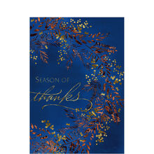 Shining Season of Thanksgiving Business Hallmark Card