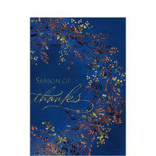 Shining Season of Thanksgiving Business Hallmark Card