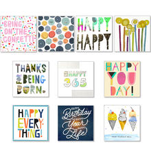 Assorted Square Birthday Cards for Business, 50 Pack