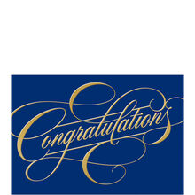 Congratulations on Blue Business Hallmark Card