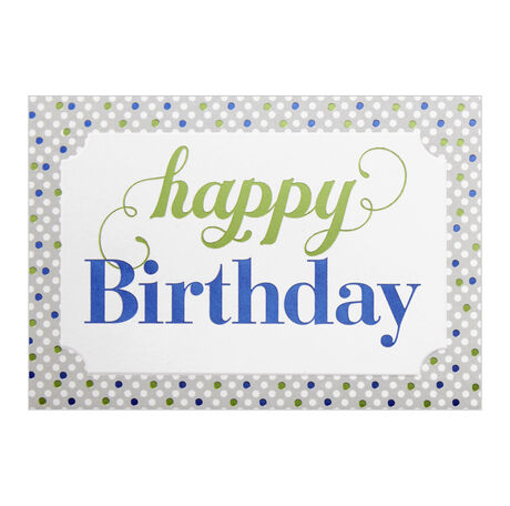 Polka-Dot Happy Birthday Business Hallmark Card