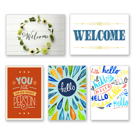Assorted Workplace Welcome Cards for Business, 25 Pack