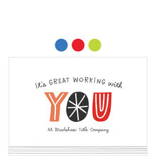Great Working With You Design Your Own Hallmark Work Anniversary Card