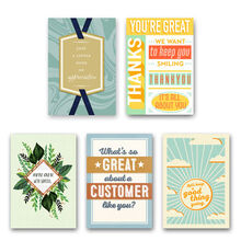 Assorted Customer Appreciation Cards for Business, 25 Pack
