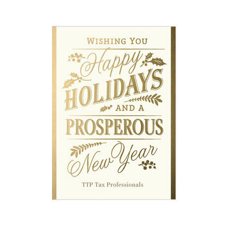 Happy Holidays and Shining New Year Design Your Own Business Hallmark Card