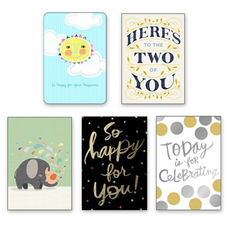 Assorted Wedding & Baby Cards for Business, 25 Pack