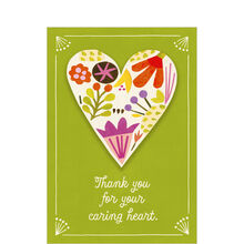 Healthcare Appreciation Card (Your Caring Heart) for Nurses, Staff & Caregivers