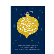 Warmest Wishes on Ornament Design Your Own Hallmark Card