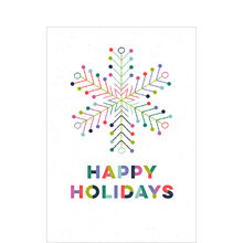 Colorful Holiday Snowflake Business Hallmark Card