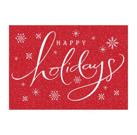 Happy Holidays Snowfall Business Hallmark Card
