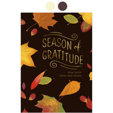 Customizable Thanksgiving Card (Maple Leaves Gratitude) for Business