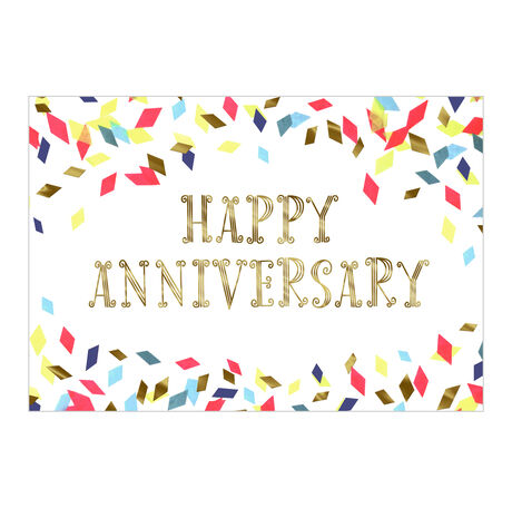 Colorful Confetti Anniversary Business Hallmark Card