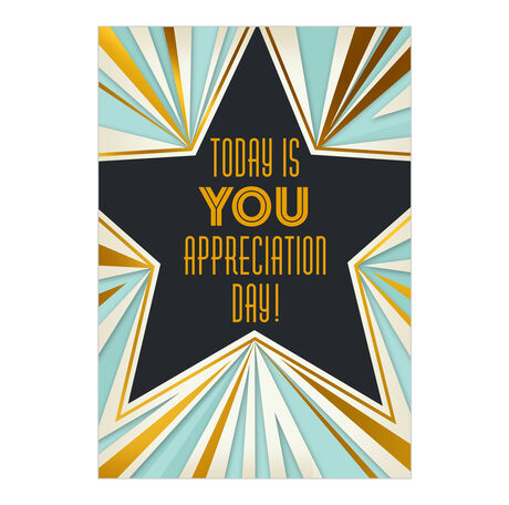 Art Deco Star Employee Appreciation Hallmark Card