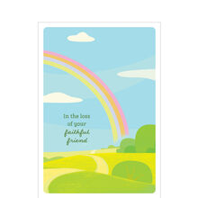 Loss of Pet Sympathy Card (Rainbow Bridge) for Veterinarians & Animal Hospitals