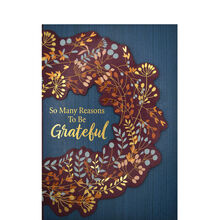 Unfolding Wreath Premium Thanksgiving Card