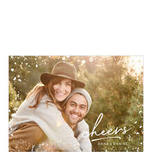 Glamour & Cheers Holiday Full Photo Card