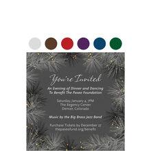 Winter Pines Design Your Own Business Hallmark Invitation