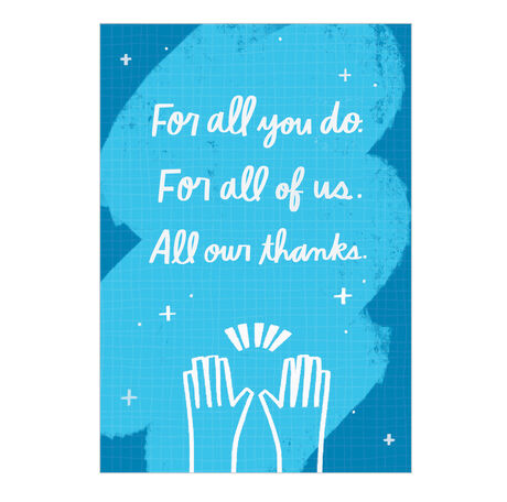 Employee Appreciation Card (All Our Thanks)