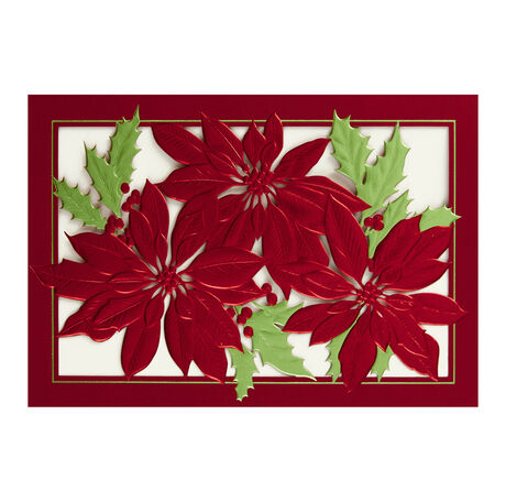 Poinsettias & Holly