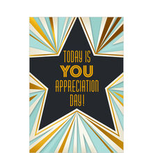 Art Deco Star Employee Appreciation Hallmark Card