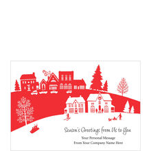 Happy Holiday Village Personalized Cover Hallmark Card
