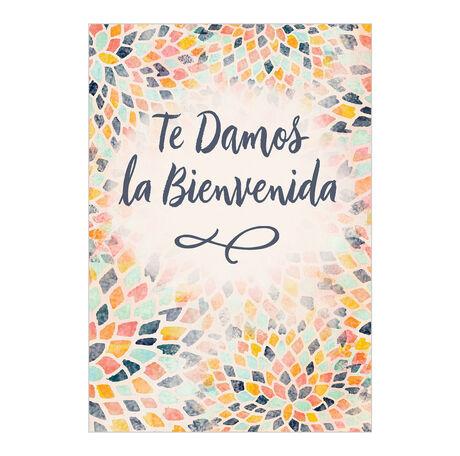 Mosaic Welcome Spanish Business Hallmark Card