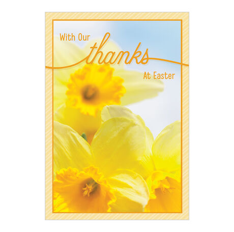 Daffodils & Thanks Easter Card