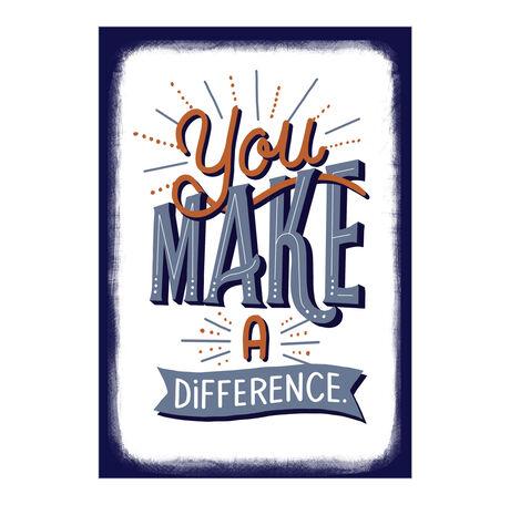 Blue, White & Orange Make A Difference Employee Appreciation Card