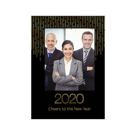 Shining Cheers to 2020 Holiday Business Hallmark Photo Card