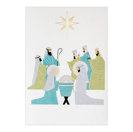 Nativity Christmas Business Hallmark Card